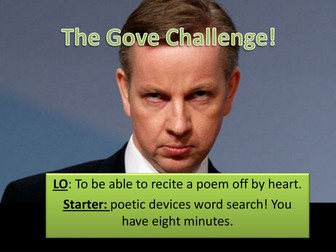 Sonnet 130 - Gove challenge (learning poetry)