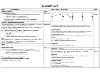 Football Unit/Scheme of work - Year 9