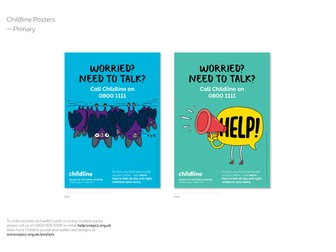 Childline posters and wallet cards - Primary