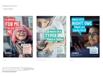Childline posters and wallet cards - Secondary