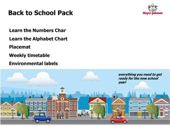 Back to school resources pack