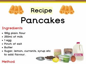 Pancake Day Poster Recipe