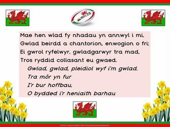 Welsh National Anthem Poster