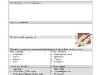 Peer Assessment Sheet