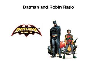 Ratio Activities: Batman and Robin PowerPoint