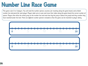 Number Line to 20 Race Game