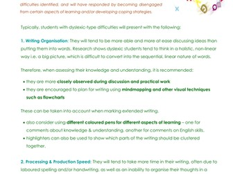 Dyslexia-Friendly Marking Guidelines