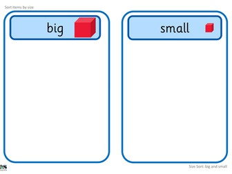 Big and Small: Size Sort TEACCH Activities