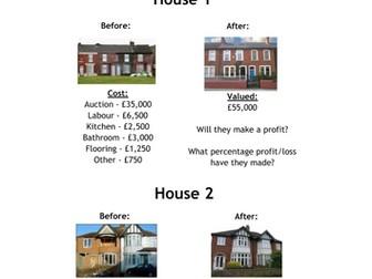 Homes Under The Hammer - Percentage Change