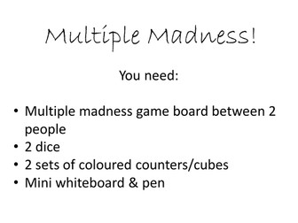 Multiple and Common Multiple Game