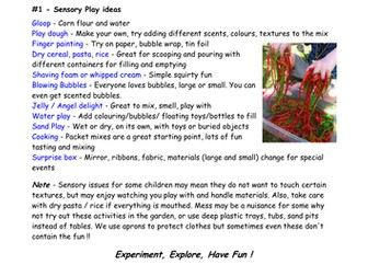 Sensory Play - a guide for parents