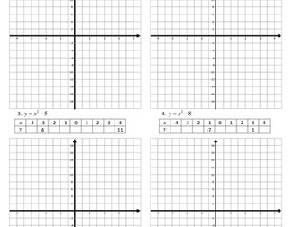 Quadratic Graph worksheet