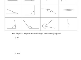 Present Past Future Worksheets Pdf Measuring Angles With A Protractor By Totallymad  Teaching  5 Multiplication Table Worksheet Excel with Free Printable Math Worksheets For 1st Grade Excel Measuring Angles With A Protractor By Totallymad  Teaching Resources  Tes Nursing Math Worksheets