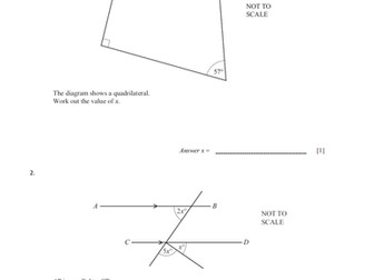 One More Worksheets Angle Properties  Cie Igcse Core Exam Questions By Pand  Spanish Number Worksheets with Fun Perimeter Worksheets Excel Angle Properties  Cie Igcse Core Exam Questions By Pand  Teaching  Resources  Tes Adding Whole Numbers And Decimals Worksheet Pdf