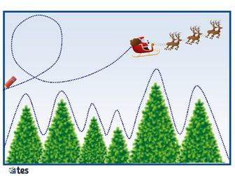 Christmas Themed Pencil Skills Activities