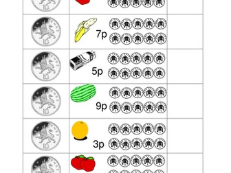 Finding change from 10p, 15p, 20p and £1 by Jkmurr - Teaching ...