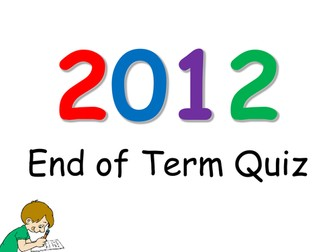 2012 End of Year Quiz!