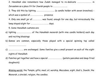 Jewish festivals - Hanukkah