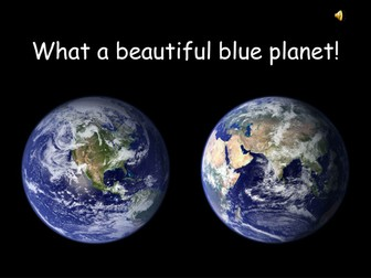 What a pretty blue planet