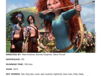 Film Education study notes for Brave