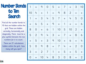 Number Bonds to 10 search