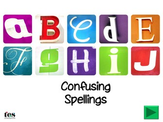 Confusing Spellings - Homophones