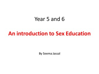 Sex Education ppt