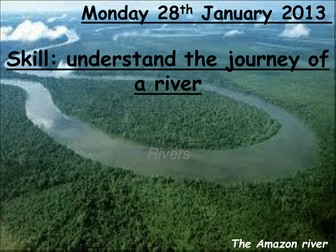Journey of a river