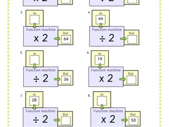 Doubling and Halving Function Machines