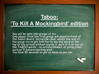 To Kill A Mockingbird Taboo