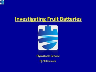 Will a fruit battery charge an iPod?: Electricity