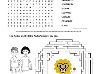 Word Search and Maze for the Archie books by Andrew Norriss