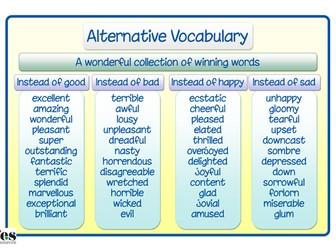 Wonderful Words Vocabulary Mat