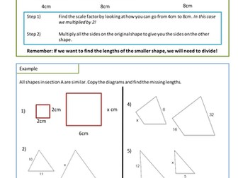 Science For 4th Graders Worksheets Excel Similar Shapes Worksheet Scale Factors By Adz  Teaching  Division Worksheets Grade 1 Word with Nursing Worksheets Pdf Similar Shapes Worksheet Scale Factors By Adz  Teaching Resources   Tes Writing Fractions As Decimals Worksheet Word