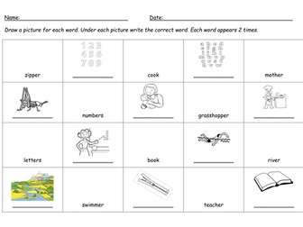 Alphabet A-z Worksheets Word Er Digraph Worksheet By Barang  Teaching Resources  Tes Word Meaning In Context Worksheets Word with Shape Worksheets First Grade Excel  1-10 Math Worksheets Word