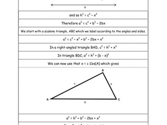 Proving the Sine and Cosine Rule