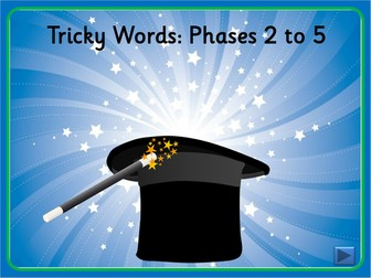 Magician's Hat Tricky Words - Phases 2 to 5