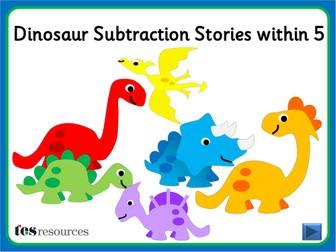 Dinosaur Subtraction Stories within 5
