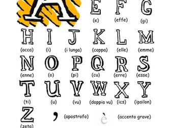 Italian - the alphabet (www.italian4fun.eu)