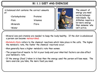 New Biology 1 revision cards