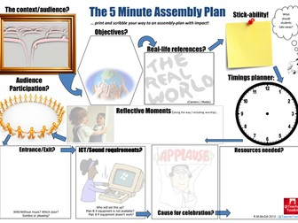 The 5 Minute Assembly Plan by @TeacherToolkit