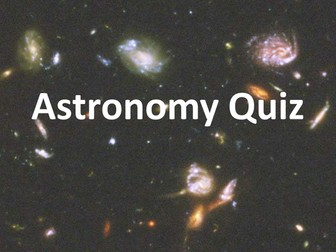 Introductory quiz on astronomy