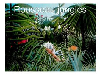 Henri Rousseau Jungle paintings