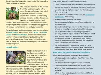 Food and Farming - photo teaching resource