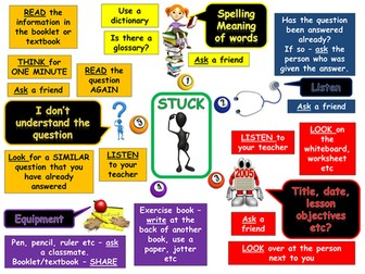 Independent Learner Stuckboard - teacher break!