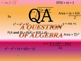 A Question of Algebra - What Happened Next?