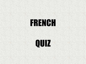 French quiz