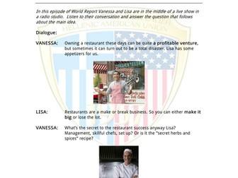 Advanced English Language: Restaurant Business by