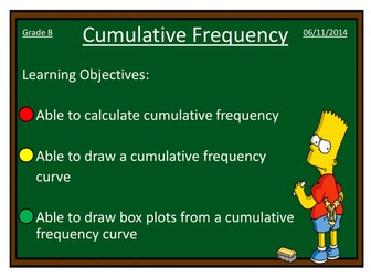Box Plots and Cumulative Frequency Curves