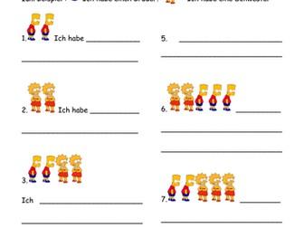 Hast du Geschwister? German family worksheet